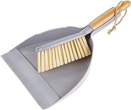 mDesign - Stoffer en blik in 2-delige set - voor het schoonmaken van het hele huis - lang handvat/bamboe borstel en plasti...