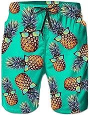 ALISISTER Zwembroek voor heren, zomer, zwemshorts, 3D-print, sneldrogend, Hawaii surf, zwembroek, sportbroek