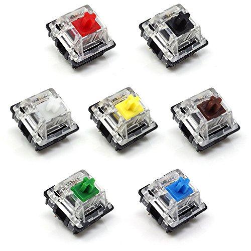 Washati Gateron Switch - Juego de 7 interruptores mecánicos diferentes