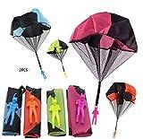Sunshine smile paracaidas,Paracaidista Juguete,Juguete de Paracaídas,Mano Que Lanza el Juguete del Paracaidista,Juguete Paracaídas Set,Mano Que Lanza el Juguete del Paracaidista (2 Piezas)