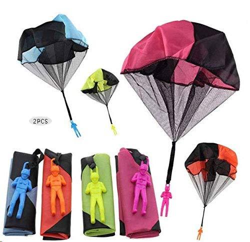 Sunshine smile paracaidas,Paracaidista Juguete,Juguete de Paracaídas,Mano Que Lanza el Juguete del Paracaidista,Juguete Paracaídas Set,Mano Que Lanza el Juguete del Paracaidista (2 Piezas) ⭐