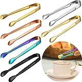 Nv Wang Mini Pinze per Ghiaccio,Pinze da Zucchero 6 Pezzi Multicolore Pinze da Servizio in...