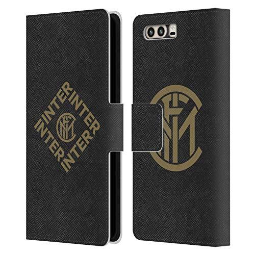 Head Case Designs Ufficiale Inter Milan Diamante Grafici Cover in Pelle a Portafoglio Compatibile con Huawei P10