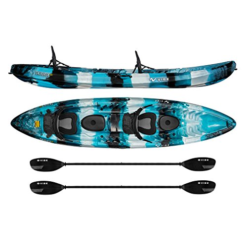 Vibe Kayaks Skipjack 120T 12 Foot Tandem Angler and Recreational Two Person Sit...
