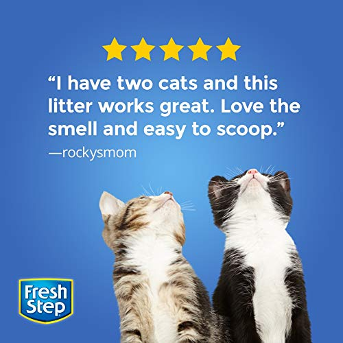 Fresh Step Multi-Cat Scented Litter with the Power of Febreze, Clumping Cat Litter, 34 Pounds