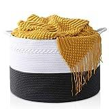 HAPPON Storage Basket XXXLarge Woven Laundry Hamper - 22'x22'x14' Extra Large Nature Blanket Basket for Nursery Clothes Kids Toys Multifunctional Storage Bins With Handle