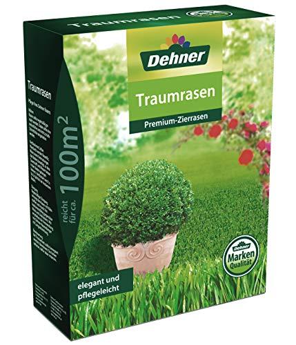 Dehner Rasen-Saatgut Traumrasen, Premium-Zierrasen, 2.5 kg, für ca. 100 qm