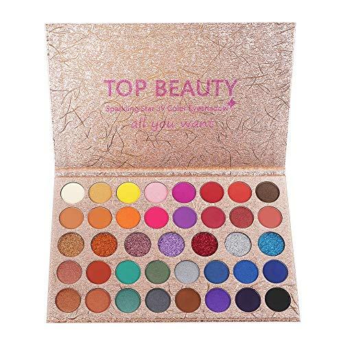 40 Farben Lidschatten Professionelle Make-Up Lidschatten-Palette Pulver Mit Matt schimmer Lidschatten Hochpigmentierte Blendable Make-up-Palette Cosmetic