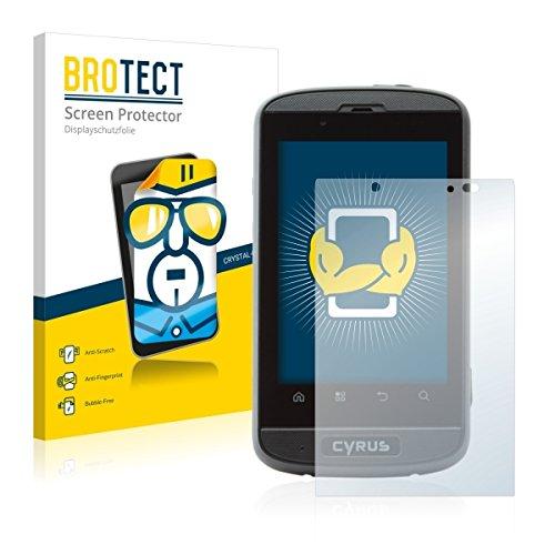 2X BROTECT HD Clear Bildschirmschutz Schutzfolie für Cyrus CS 18 (kristallklar, extrem Kratzfest, schmutzabweisend)