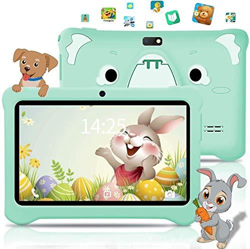 Kinder Tablet Kids Edition-Tablet 7-Zoll-HD-Display Toddler Tablet Mit 3 GB + 32 GB, 128 GB Erweiterbare, Android 9.0, WiFi, Doppelkamera, Kindersicherung,Kinderspiele, Kindersicherung Kindertablet