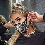 IYOU Máscara de cristal brillante con diamantes de imitación, color negro brillante, para fiestas de Halloween, disfraz de genio con purpurina, accesorio de joyería de Mardi Gras para mujeres y niñas