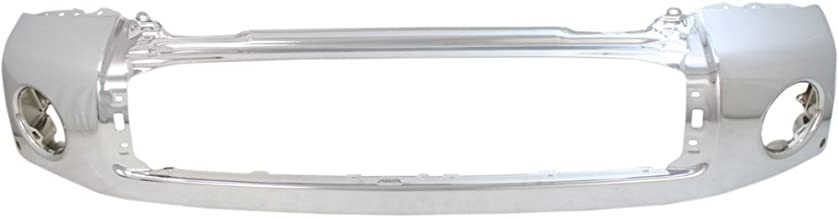 Bumper Compatible with Toyota Tundra 07-13 Front Bumper Chrome w/Parking Aid Hole Steel