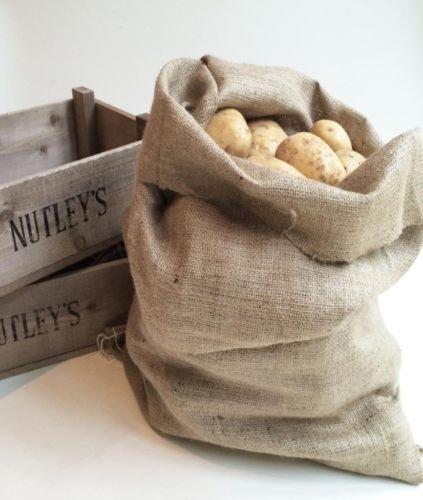 Nutley's Grand Sac de Pommes de Terre en Toile de Jute de qualité 50 x 80 cm