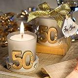 Photo Gallery set di 12 candele matrimonio 50o anniversario – nozze d oro, bomboniere per matrimonio 50° anniversario nozze oro