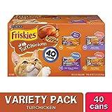 Purina Friskies Gravy Wet Cat Food Variety Pack, TurChicken Extra Gravy Chunky, Meaty Bits & Shreds - (40) 5.5 oz. Cans