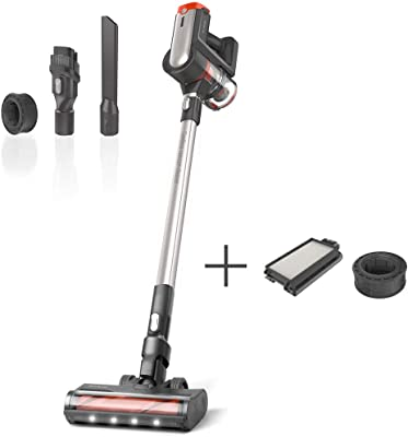 Womow W20 Cordless Vacuum, 25,000pa Powerful Suction 2 in 1 Stick Handheld Vacuum Cleaner for Hard Floor with HEPA and Foam Filter