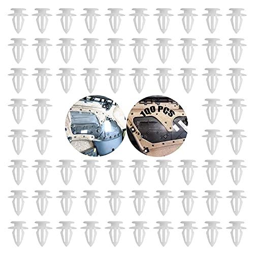 Clips De La Puerta De Coche Universal 100 Clips De Fijación Piezas De Pvc Panel La Puerta Soportes Del Parachoques Interior Recortar Clips Para Los Clips De Los Clips De La Puerta De Coche La Mayoría