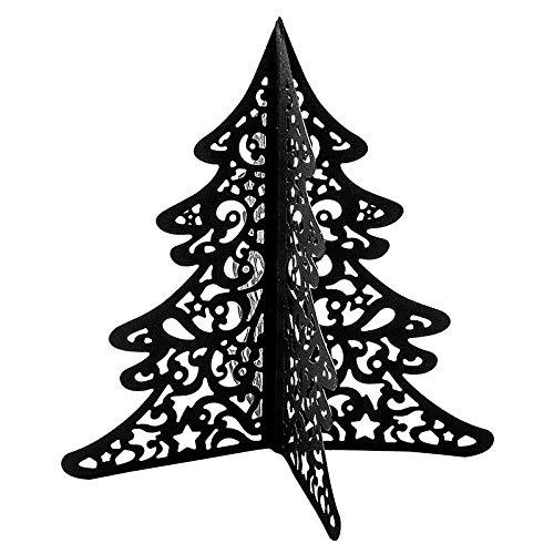 Stanzschablone, Falttanne 1, 13,5cm x 13,9cm, passend für gängige Stanzmaschinen | Schablone zum Gestalten von dekorativen Tannen-Aufstellern | Weihnachten, Advent, Deko