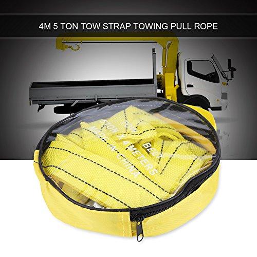Praktischer Abschleppgurt, 4-Meter-Abschleppseil, hochfester Nylondraht und geschmiedetes Eisen für Geländewagen für Geländewagen für Kleintransporter zum Abschleppen von Fahrzeugen