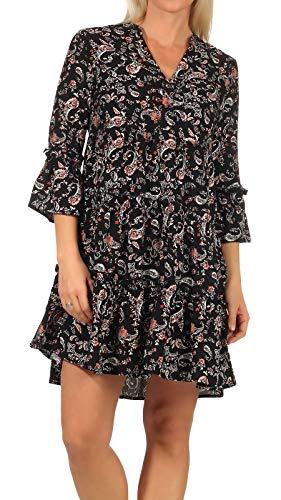 VERO MODA Damen Kleid VMSimply Easy Tunika mit Paisley-Print 10245162 Black AOP: adda M