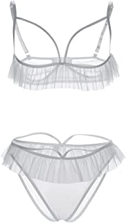 4e29c33778 Uniarmoire Womens Open Cup Lingerie Cupless Bra and Panty Sets