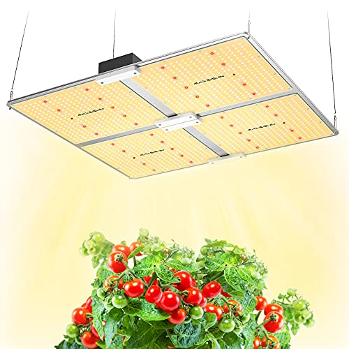 MAXSISUN PB4000 Pro Grow Light, 400W LED Grow Lights for Indoor Plants Full Spectrum Uses Samsung Diodes and Mean Well Driver Remote Control Dimmable Growing Lamps for a 4'x4' Grow Tent Veg & Bloom