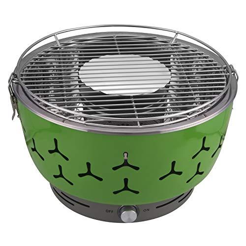 eSituro Holzkohlegrill BBQ Grill rauchfreier Barbecue beweglicher Grill Tischgrill mit Belüftung, inkl.Tragetasche, für Zuhause oder Unterwegs, Grün