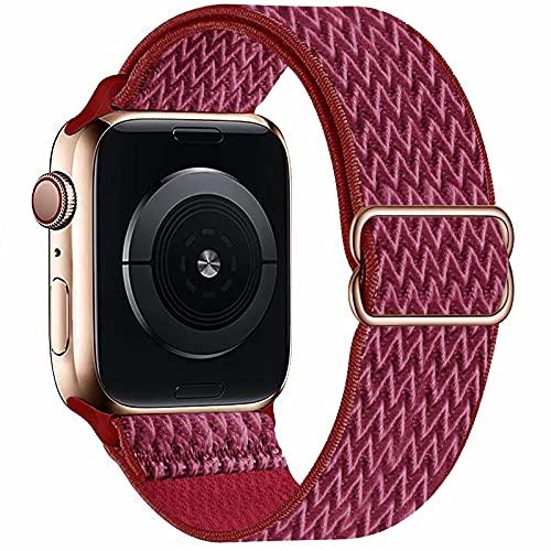 GBPOOT Solo Loop Armband Kompatibel mit Apple Watch , Nylon Sport Armband für IWatch Series 6/SE/5/4/3/2/1