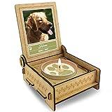 TROSTLICHT   Trauerkerze Hund   personalisiert mit Foto & mit Namen   Holz-Box mit Spruch & Pfote   Abschied Hund   Hund Erinnerung   Verlust Hund (Spruch Pfoten)