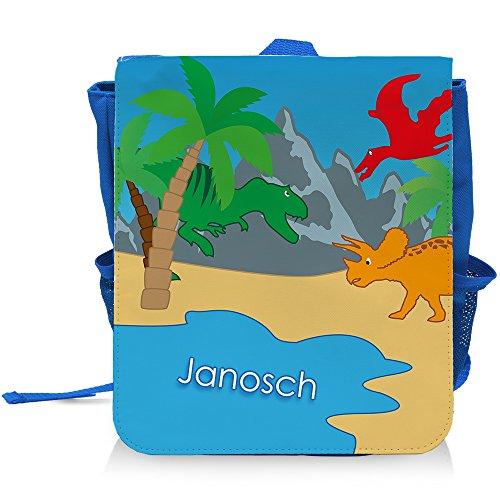 Kinder-Rucksack mit Namen Janosch und schönem Dino-Motiv für Jungen