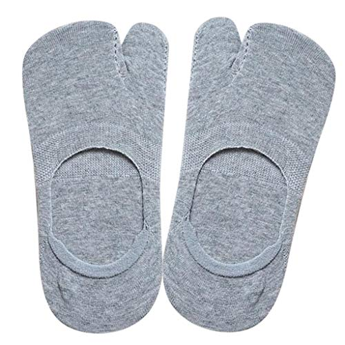 sharprepublic Womens Cotton V Toe Socken Fashion Invisible Low Cut Tabi Socken Für Flip Flop - Grau