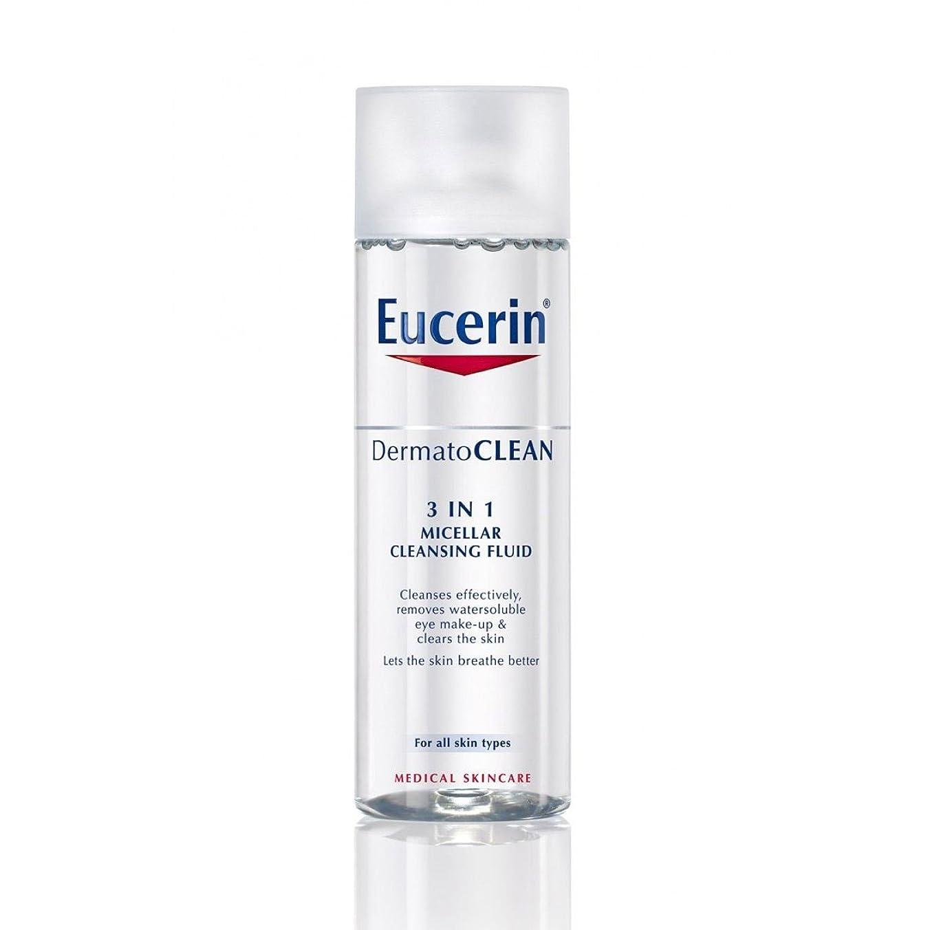 それるリーン寸法Eucerin Dermatoclean 3in1 Micellar Cleansing Fluid 200ml [並行輸入品]