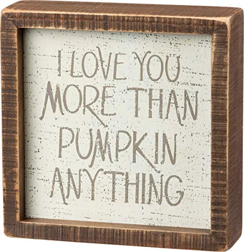 Primitives by Kathy Inset Fall Décor, 6 x 6-Inch, Love You More