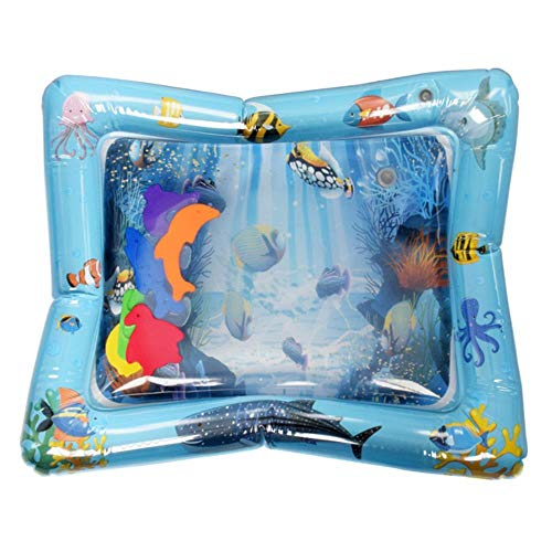 WXCL Creative Water Mat Oreiller d'eau Gonflable Infantile Game Pad Toddler Drôle Pat Pad Jouet Bébé Gonflable Pat Pad Bébé, D 60x50cm