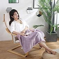 防寒保温電気毛布,暖房毛布、電気毛布、多機能ハンドウォーマー、膝パッド-紫の_60X80cm