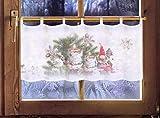 Scheibengardine Wichtel 45 x 120cm Caféhausgardine/Weihnachtsgardine/Weihnachtsdeko/Fensterdekoration