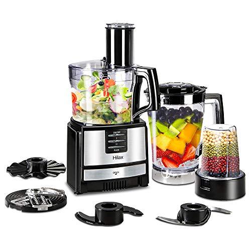 Hilax Food Processor Blender - Kitchen Food Processor ,Chopper, Blender Food Processor Combo,Multi Mixer Machine with Dough Blade 550W