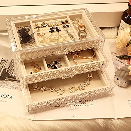 Rongxin Caja de almacenamiento para pendientes, pendientes de escritorio, estantes de exhibición, pendientes colgantes, pendientes y anillos de joyería (color 23)