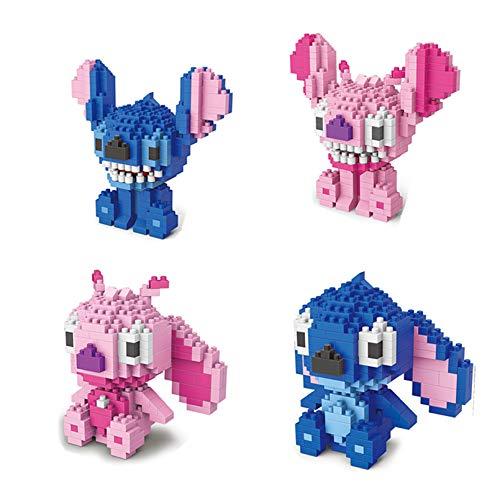 LNLJ - Lote de 4 bloques de dibujo animado para bricolaje, modelo de construcción, kit educativo para juguetes para niños