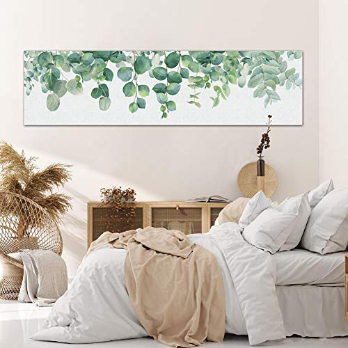Zunniu Botanical Plant Wall Art Decor - Green Leaves Canvas Print Picture for Home Decoration...