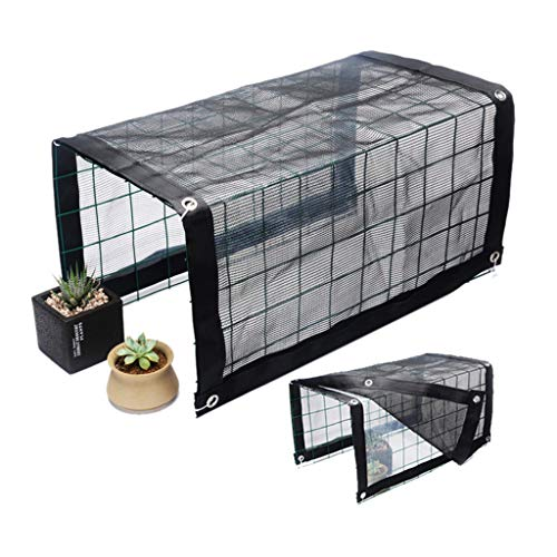 Freely Movable Greenhouse Combined Sun and Rain Cover Winter Greenhouse Metal Round Wire Mesh Garden, Balcony Flower Stand Awning 150x48x36cm