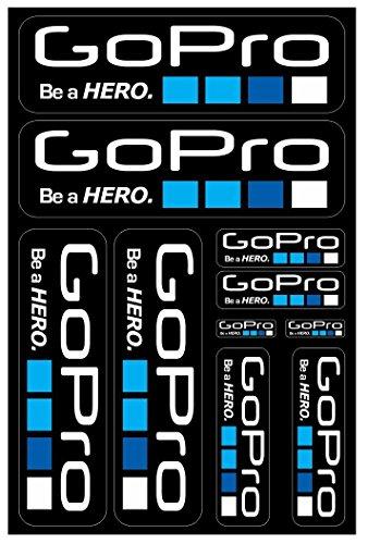 Motorrad und Bike Dekoration Aufkleber Aufkleber Promo-Set von Größen, Vinyl für Indoor/Outdoor-Anwendungen, einzeln vom Blatt entfernt GoPro