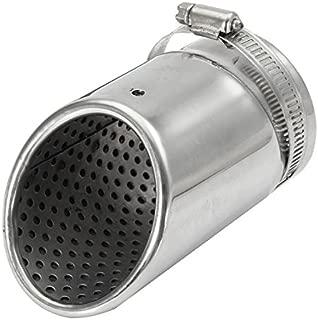 Wooya 7 1//4Inch Marmitta Universale Tubo di Protezione Scudo Termico Stile Teschio-Chrome