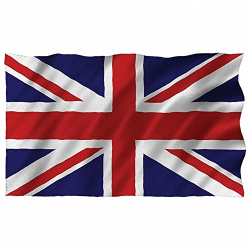 Bandera de Gran Bretaña, bandera de Reino Unido, 150 x 90 cm aprox. Uso en exterior e interior, recuerdo patriótico