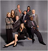 Boston Legal Cast Shot with William Shatner as Denny Crane Close Up in Suit 8 x 10 Photo