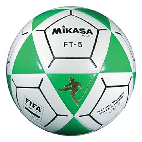 Mikasa FT5 - Pallone da calcio Goal Master, taglia 5, colore: Verde/Bianco