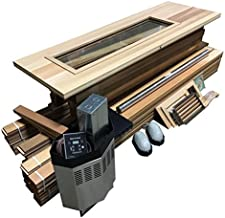 Northern Lights Group DIY Sauna Kit 4' x 5' - Complete Sauna Room Package - 4 Kw Electric Heater
