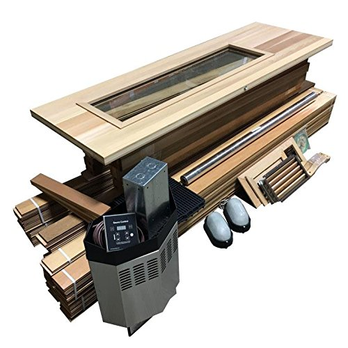 Northern Lights Group DIY Sauna Kit 4' x 5' - Complete Sauna Room Package - 4 Kw Electric Heater