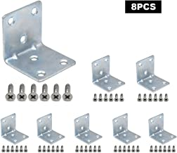 Corner Brace 304 Stainless Steel Joint Right Angle L Bracket Shelf Support Fastener with Screws