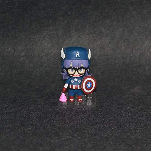 Anime Dolls American Team Alale 10cm Alale Xiaoyun Robot Doll Q Version Action Figure Pvc Figure Toys Gift